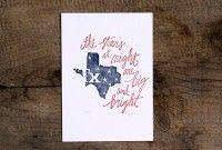 Texas Letterpress Print. $15