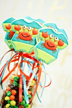 Crab Onesies | Cookies In Color | Shannon Tidwell