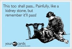 This, too, shall pass. Painfully. Like a kidney stone. But it will pass.