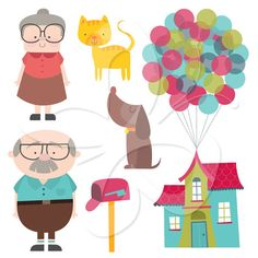 We're Moving House Digital Clip Art Clipart Set - Personal and Commercial Use