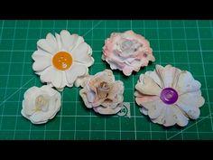 DIY: Flores de papel sin troqueles florales. (Primera parte) - YouTube