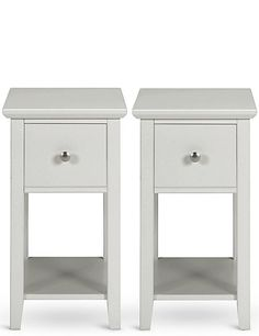 Set of 2 Hastings Dark Grey Compact Bedside Tables
