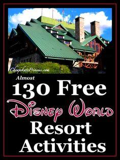 Disney World Tips   Almost 130 FREE Walt Disney World Resort Activities!   vacation planning tips   CheapskatePrincess.com