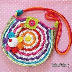 Crochet Pattern – Big rainbow bag – crochet bag pattern / flower / hippie / digi… – Awesome Knitting Ideas and Newest Knitting Models Bag Crochet, Mode Crochet, Crochet Shell Stitch, Crochet Handbags, Crochet Purses, Crochet Summer, Crochet Yarn, Half Double Crochet, Single Crochet