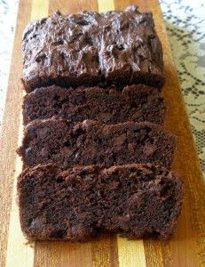 Gluten Free Double Chocolate Zuchinni Bread! Delicious! I subbed Honey for the brown sugar and Truvia for the white. I used coconut oil for the oil. I would also advise adding xanthan gum if your GF flour mix does not have it :)