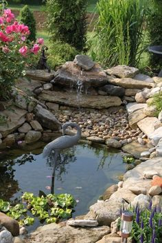 41 Awesome Small Waterfall Pond Landscaping Ideas Backyard Awesome 41 Awesome Small Waterfall Pond L Garden Waterfall, Small Waterfall, Turtle Pond, Building A Pond, Natural Pond, Pond Landscaping, Backyard Water Feature, Pond Design, Small Ponds