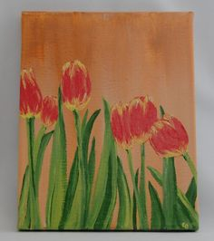 Farmers Market Tulips Hand Painted 8 x 10 Canvas by Butterfly June www.bflyjune.etsy.com $60.00