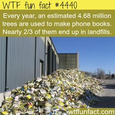 The problem with phone books -  2/3? RECYCLE! ...OMG!  ~WTF! Not-so-fun facts