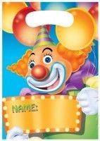 Geschirr etc.: 8 Zirkus Mitgebsel Tüten