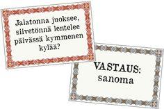 Vanhoja arvoituksia Maamme kirjasta, koonnut Elias Lönnrot #vanha #arvoitus #vanhoja #arvoituksia #vanhat #arvoitukset #Kalevalanpäivä #Kalevala #Maamme #kirja #kansanperinne #kulttuuri #kompakysymys #kompakysymyksiä #tulostettava #kortit