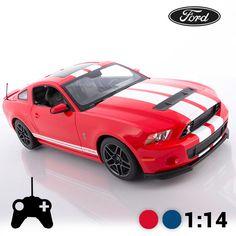 Amplia la tua collezione di macchine telecomandate con lamacchina telecomandata Ford Shelby GT500! In scala 1:14. Batterie della macchina: 5 x AA (non incluse