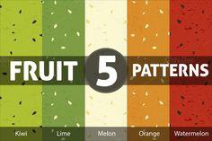 Fruit Patterns by Luis Quesada Design on Creative Market
