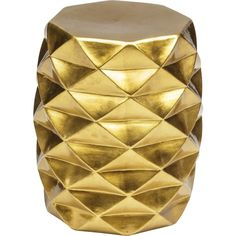 Geometric Garden Stool, Gold ($179) ❤ liked on Polyvore