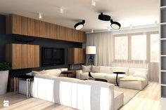 Wystrój wnętrz - Salon ze ścianą tv - pomysły na aranżacje. Projekty, które stanowią prawdziwe inspiracje dla każdego, dla kogo liczy się dobry design, oryginalny styl i nieprzeciętne rozwiązania w nowoczesnym projektowaniu i dekorowaniu wnętrz. Obejrzyj zdjęcia! - strona: 9