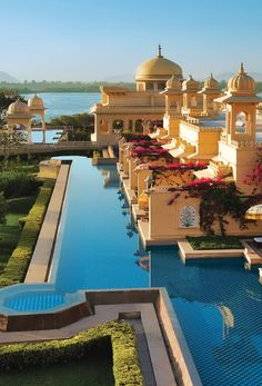 The Oberoi Udaivilas, Udaipur, Rajasthan, India for the special swimming pool it has. Places Around The World, The Places Youll Go, Travel Around The World, Places To Go, Around The Worlds, Nova Deli, Beautiful World, Beautiful Places, The Oberoi