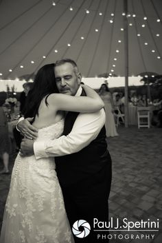 Lauryn and her father dance during her July 2016 wedding reception at the Overlook at Geer Tree Farm in Griswold, Connecticut.To see more photos from Justin and Lauryn's wedding, please visit http:// www.tinyurl.com/JustinAndLauryn (Copyright 2016: Paul J. Spetrini Photography)