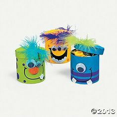 Colorful Magic Color Scratch Fall Leaves(pack of Monster Inc Party, Monster Birthday Parties, 1st Boy Birthday, Kids Crafts, Foam Crafts, Diy And Crafts, Paper Crafts, Monster Treats, Happy B Day