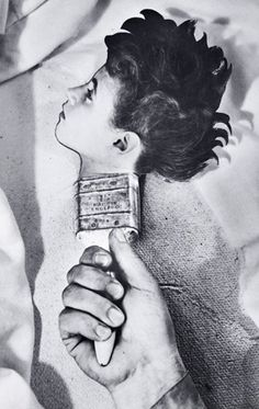 "Dream 31by Grete Stern, ca 1950.  ""In 1948 Stern was asked to provide illustrations for the dreams sent in by women to the Argentinian journal 'Psychoanalysis will help you' - she proposed photomontages. Her collaboration lasted around three years, in the course of which over one hundred and fifty pieces were published...usually, they strictly reproduced the letters sent in by readers.""   http://www.zonezero.com/exposiciones/fotografos/stern/engle.html"