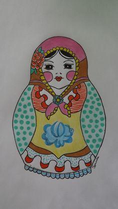 russian doll  matriochka draw