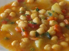Hoy cocinamos......: Potaje vegetal Mexican Food Recipes, Vegetarian Recipes, Ethnic Recipes, Gluten Free Soup, Spanish Dishes, Kitchen Recipes, Soups And Stews, Vegetable Recipes, Crockpot Recipes