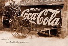 Old Coca-cola advertising which is must different than today. Coca Cola Drink, Cola Drinks, Barn Signs, Old Signs, Advertising Signs, Vintage Advertisements, Cocoa Cola, Best Soda, Vintage Posters