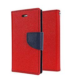 Casecraft Oppo F1 plus Flip Cover Case Wallet Style Cover (Red) | All Mobile Accessories, Cases & Covers