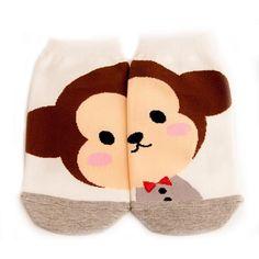 Bow Tie Monkey Socks