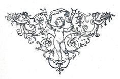 Free Vintage Clip Art - Black and White Printers Ornaments - The Graphics Fairy