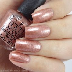 OPI Fall Winter 2015 Venice collection 'Worth a Pretty Penne' - a rose copper shade