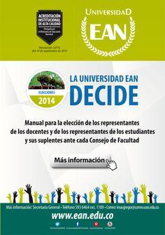 Antes de decidir, consulta el Manual de #EleccionesEAN