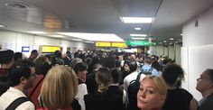 """London Heathrow's Terminal three has been evacuated today after reports of a fire alarm going off. Thousands of travelers were forced to leave the terminal, with many standing outside on the tarmac after being told not to board their flight. Heathrow Airport tweeted at 12:55pm: """"T3 has been evacuated following a fire alarm. We are …"""