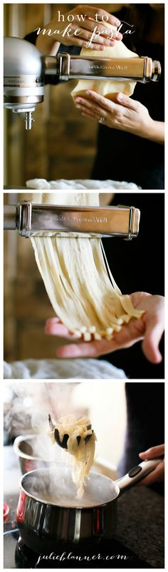 Learn how to make homemade pasta - in minutes! It's fresh, easy & tastes incredible. You'll never eat pasta from a box again.