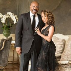 Steve Harvey and his beautiful wife Marjorie Harvey celebrate 10 years of marital bliss this weekend. Black Celebrity Couples, Black Couples, Couples In Love, Power Couples, Beautiful Wife, My Black Is Beautiful, Black Love, Beautiful People, Steve Harvey Wife