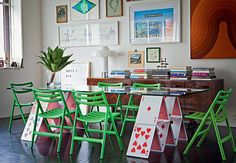 mesa de castelo de cartas