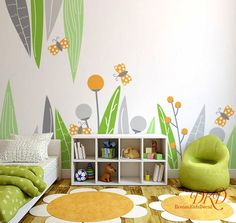 Nature Themed Branches and Leaves Vinyl Home Decor Wall Decals for Living Room Small and Large Sizes Available