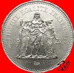 50F Hercule en argent, l'une des meilleures pièces d'investissement françaises en argent métal.