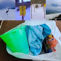 Can people pleeeeeaaase clean up after themselves? There are trashcans here every 50 feet! There is ABSOLUTELY no excuse for picking up a bag filled with trash from our beach! Shame on you all who did this today! This was on Blue Mountain Beach in North Florida!