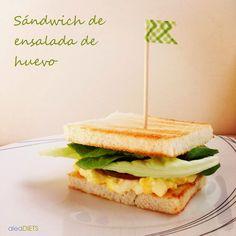 La dieta ALEA -  blog de nutrición y dietética, trucos para adelgazar, recetas para adelgazar: Sándwich de ensalada de huevo