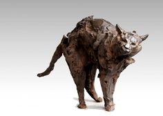 Cat sculpture by Jean François Gambino Art Sculpture, Pottery Sculpture, Small Sculptures, Animal Sculptures, Cat Anatomy, Animal Anatomy, Aesthetic Objects, Clay Cats, Cat Statue