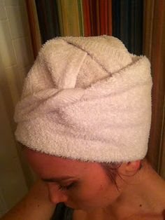 How to wrap your hair with a hand towel.                                                               The Lovely Prelude: Hair-igami
