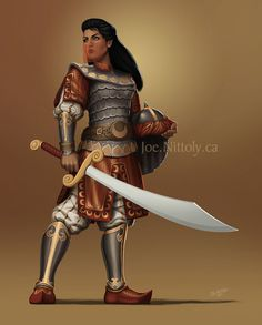 heroineimages:  pasiphilo:  Zareen by Joe NittolyThis was an illustration I did on commission for a friend who wanted her human paladin D&D character visualized. I really enjoyed working on this.For a commission of your own, feel free to contact me.Joe.Nittoly.ca   DeviantART   Etsy  This is probably the most epic portrait I'll see all day. Just… damn.