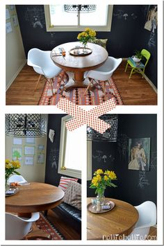 decorating the dining room with a casual, eclectic style #DIY #diningroom