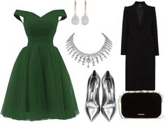 living-the-grunge-like:  Winter Ball by jwolfe274 featuring diamond jewelry   Formal evening gown / Alexander McQueen coat / Casadei leather shoes $450 / Miu Miu bow purse / Diamond jewelry $646560 / Monica Vinader earrings $870