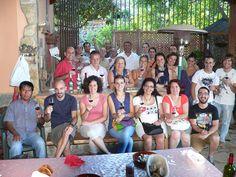 Participantes en el curso de iniciación a la Cata en la visita que organizamos a Bodegas Ferrera en Arafo (sur de Tenerife). Denominación de Origen Valle de Güímar