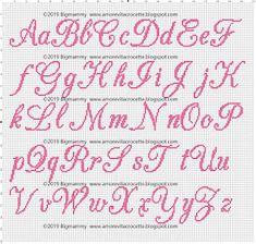 Unicorn Cross Stitch Pattern, Cross Stitch Alphabet Patterns, Embroidery Alphabet, Cross Stitch Letters, Cross Stitch Baby, Crochet Stitches Patterns, Stitch Patterns, Typography, Lettering
