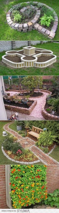 Landscape Garden Design Stoke On Trent, Large Raised Garden Bed Ideas + Succulent Garden Landscaping Pictures Home her Garden Landscape Ideas No Grass like Raised Garden Beds At Walmart Garden Borders, Garden Paths, Garden Pool, Herb Garden, Brick Garden, Roses Garden, Diy Garden, Garden Stakes, Vegetable Garden