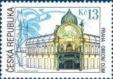 Postzegel: The Municipal House in Prague (Tsjechië) (Historic Architectural Styles) Mi:CZ 266,Yt:CZ 252,AFA:CZ 266,POF:CZ 263
