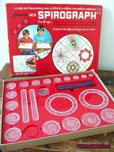 #Spirograph the things you drew with this kit were really cool. I wonder what happened to mine? UPDATE!! Walmart has newer versions of the Spirograph. The Deluxe one is $24 and they have a smaller one for $15.. The 90s may have a chance to return after all.