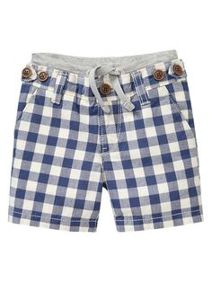 Gap Villa America | Flat-front plaid shorts 3-6