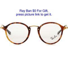 e0b53e03f86e9 Ray-Ban Tortoiseshell round-frame optical glasses (550 BRL) ❤ liked on